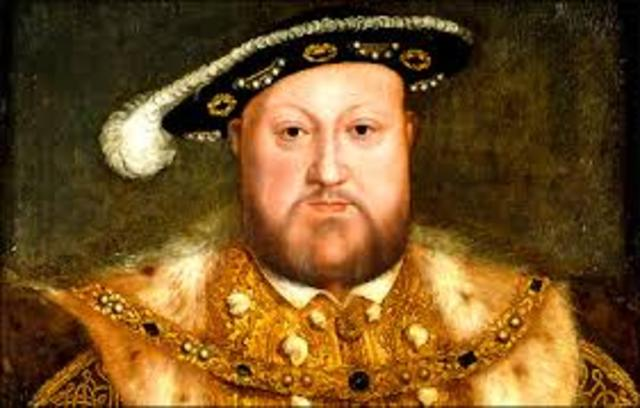 King Henry VIII breaks from the Church