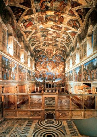 Michelangelo (1475-1564) paints the Sistine Chapel