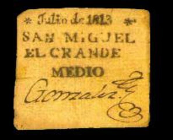 ANTECEDENTE DEL BILLETE MEXICANO