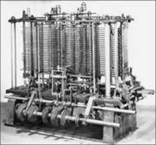 First mechanical computer or automatic computing engine concept