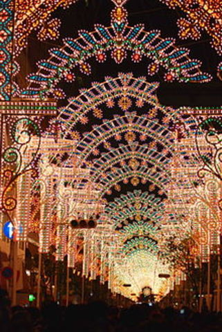 Kobe Luminarie festival in Japan
