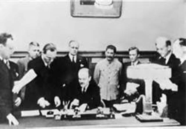 Germany and Soviet Union have a nonaggression pact