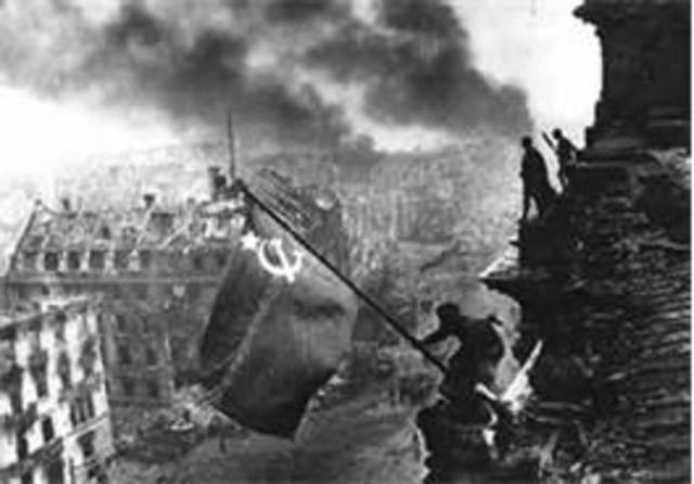 Allied forces advance on Berlin, Germany surrenders