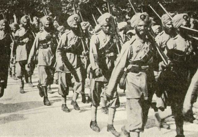 Indian troops returned home from war