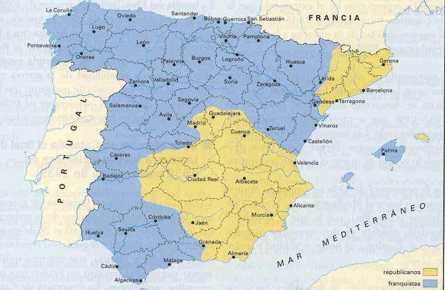 Divisió territori republicà