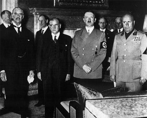 Hitler reveals war plans during Hossbach Conference