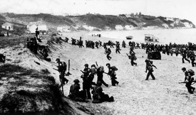 The British–American invasion of French North Africa.