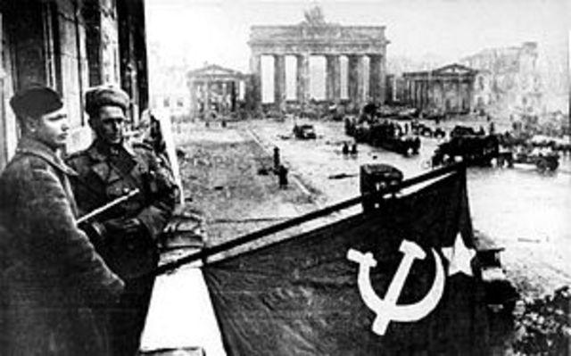 The Soviet Union enters Berlin.