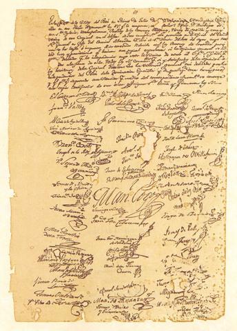 Firma del Acta de la Independencia en el Cabildo de Lima