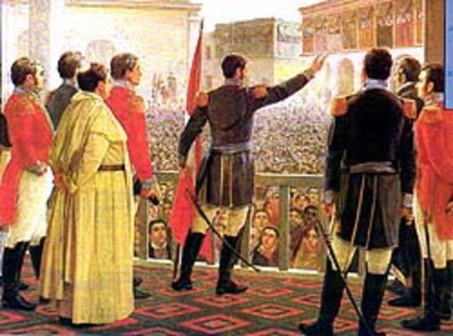 Proclamación de la Independencia por Don José de San Martín