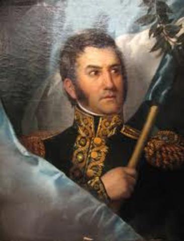 San Martín asume el mando de Protector