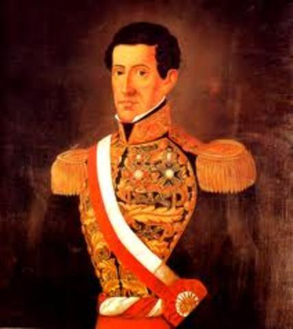 Agustin Gamarra es proclamado presidente por el Congreso