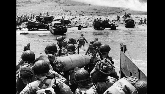 D-Day landings on the northern coast of France