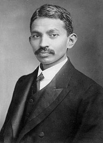 Gandhi returned to India