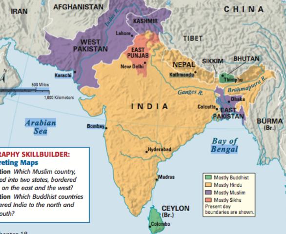 India and Pakistan Separate (Partition)
