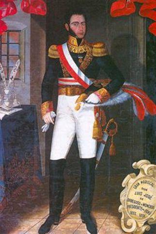 Promulgación de la Constitución Liberal de 1834