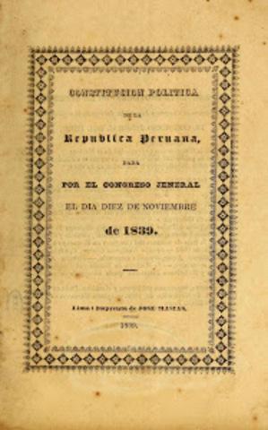 Promulgación de la Constitución Conservadora de 1839