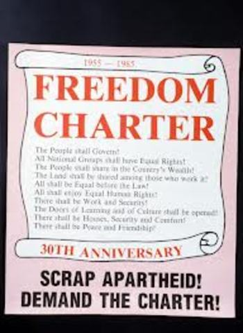 Adoption of the Freedom Charter