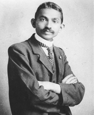 Ghandi travels to South Africa