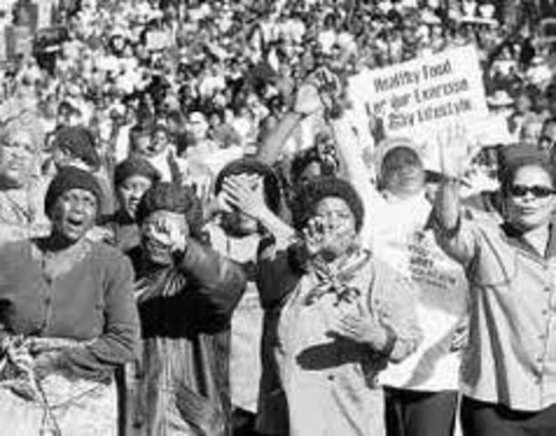 Womans March of the pass law