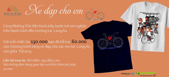 Chạy Ads cho chương trình từ thiện tặng xe đạp cho trẻ em tại Long An