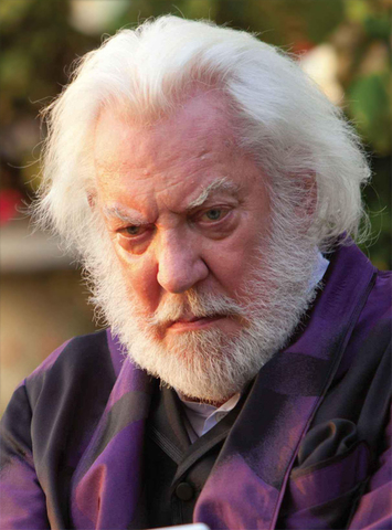 President Snow visits Katniss in District 12