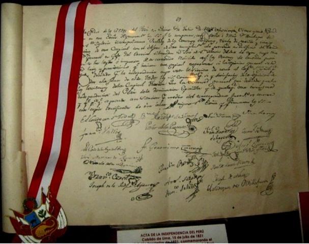 Firma de la Independencia