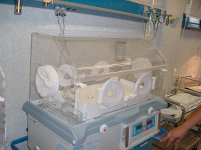 en una incubadora