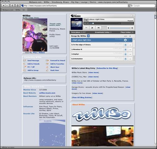Myspace Page launch