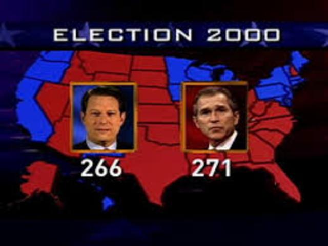 Bush vs AL Gore Jr for 2000 presidential campaing.