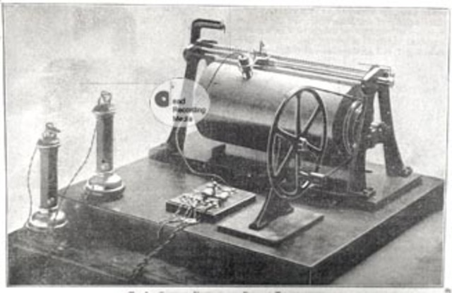 Poulson makes the first 'wire recorder'