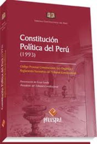 CONSTITUCIÓN POLÍTICA DEL PERÚ  DE1993
