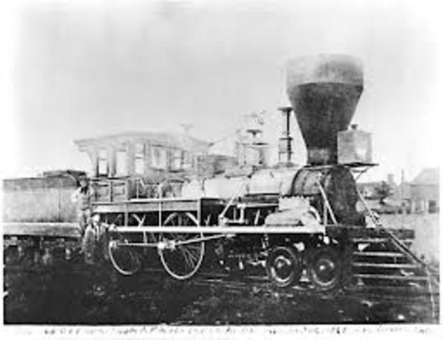 When the train was first invented