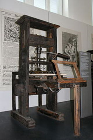 When the first printing press was invented