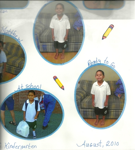 Matthew entered Kindergarten