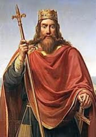 Clovis becomes king of the Franks