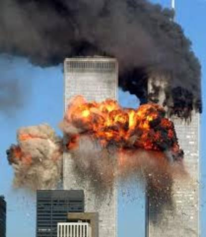 fall of the twin towers