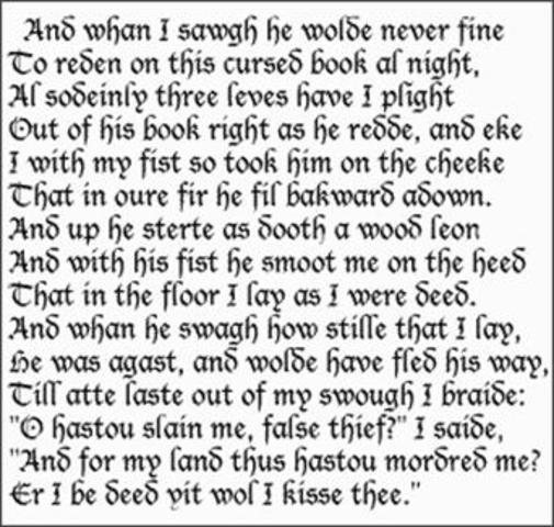 Texts in Middle English.