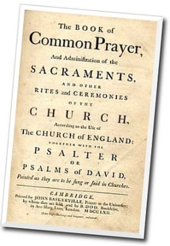the Book of Common Prayer of the Church of England is published
