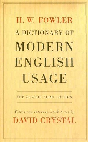 Dictionary of Modern English Usage