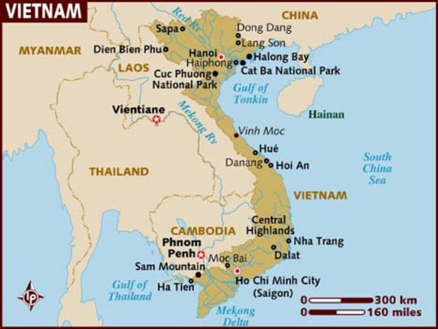 Vietnamese battle French rule over their country