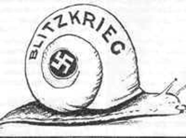 Germany Starts Blitzkrieg Campaign