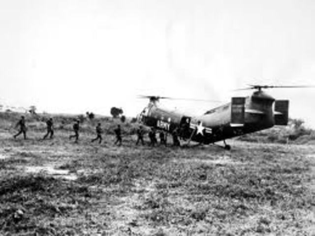The U.S starts supplying military assistance to South Vietnam