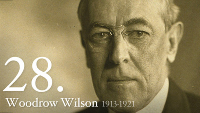 """Woodrow Wilson re-elected President of the United States with campaign slogan: """"He kept us out of the war"""""""