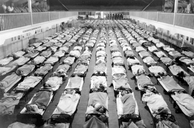 Two waves of influenza kill more people than did the war.