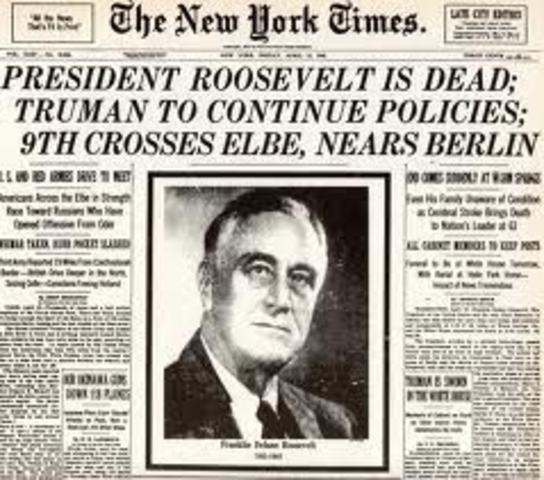 Death of F.D.Rosevelt