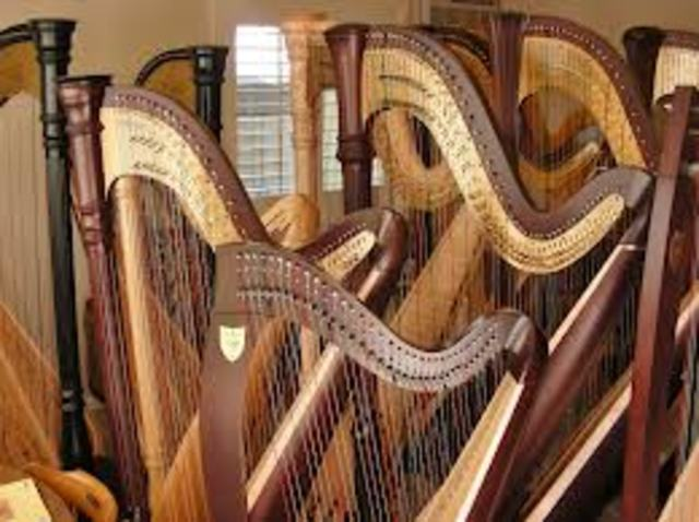 Harp introduced to Europe