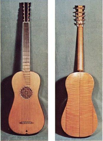 Five Course Guitar- 17th Century