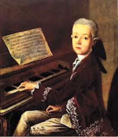 The birth of Wolfgang Amadeus Mozart