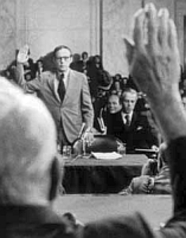President Nixon informs Senate Committee that he will not appear to testify nor grant access to Presidential files.